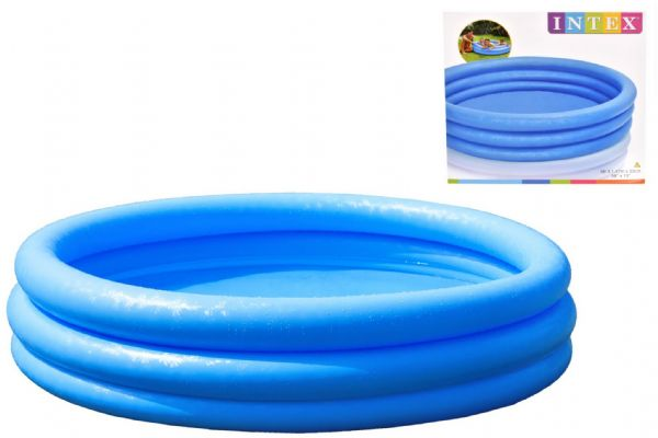 TY0690 3 Ring Crystal Blue Pool 58
